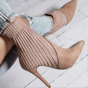 Shoes - BLUSH SOCK BOOTS